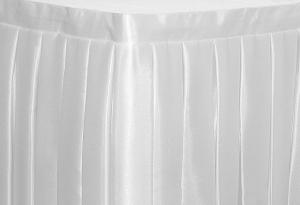 Фуршетная юбка на стол цвет белый коэффициент складок 1:3 длина 200 см