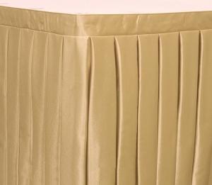 Фуршетная юбка на стол цвет бежевый коэффициент складок 1:3