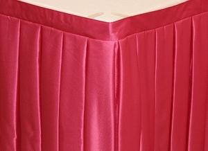 Фуршетная юбка на стол цвет розовый коэффициент складок 1:3