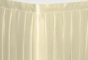 Фуршетная юбка на стол цвет шампань коэффициент складок 1:3 длина 400 см.