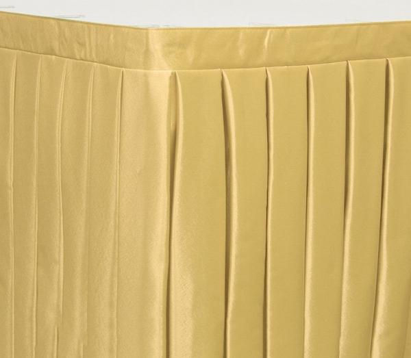 Фуршетная юбка на стол цвет светло-золотой коэффициент складок 1:3